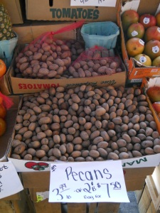 Pecans! I did think about filling an extra suitcase full of these nuts!