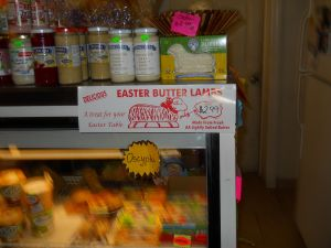 And yes, I did want to buy a butter lamb for my Easter dinner!