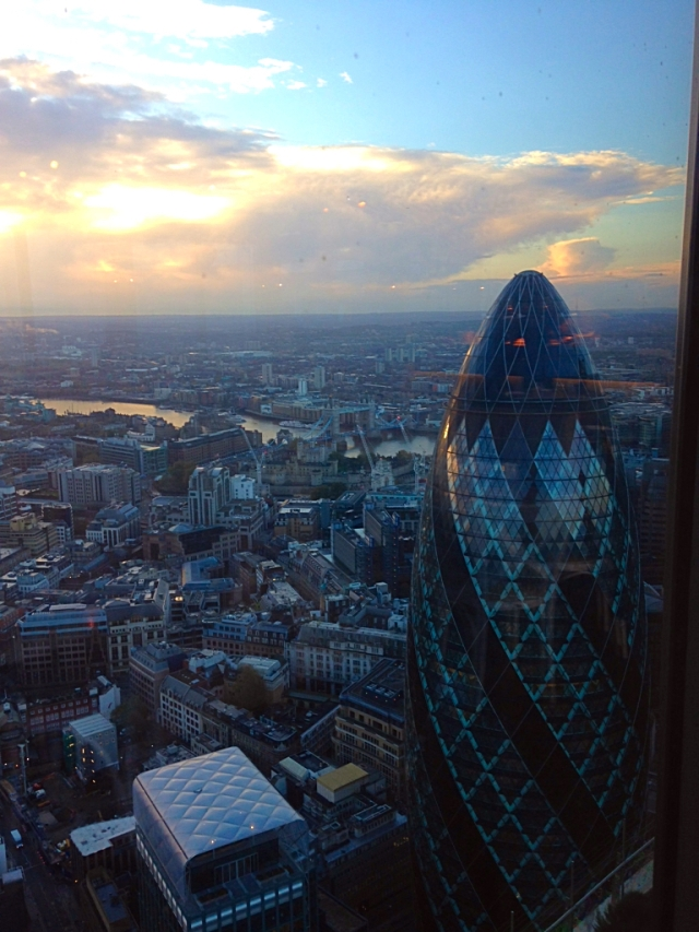 The view from atop London.