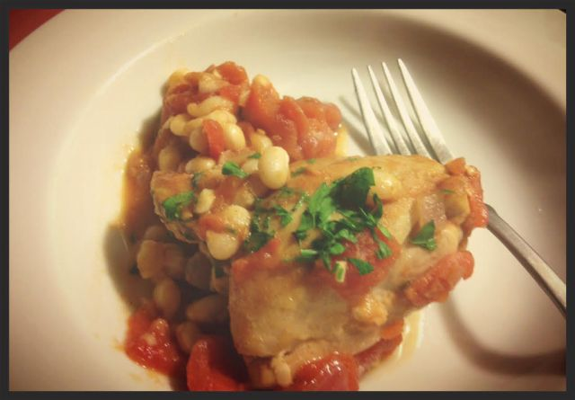 chicen and white beans