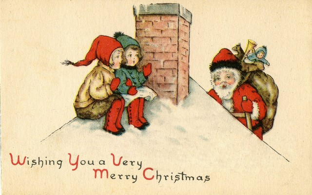 SantaChimneyVintage-GraphicsFairy1