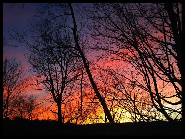 Christmas Eve's sunset in Vermont's capital city.